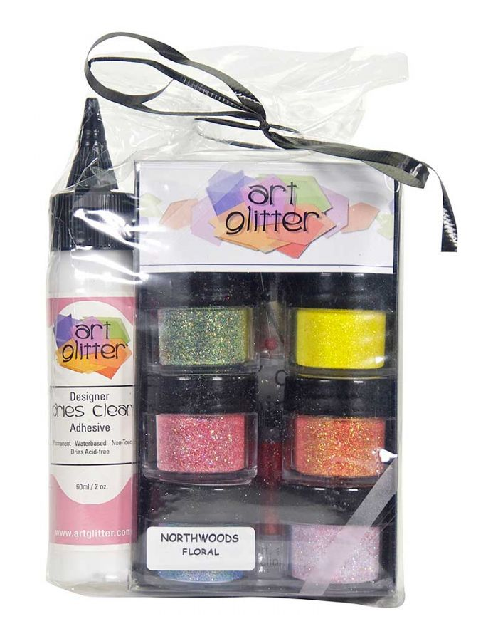 Art Glitter Set, Floral - AG006