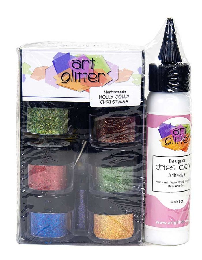 Art Glitter Set, Holly Jolly Christmas - AG012