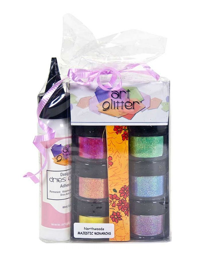 Art Glitter Set, Majestic Monarchs - AG011