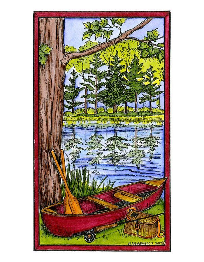 Canoe By Stream - NN10255