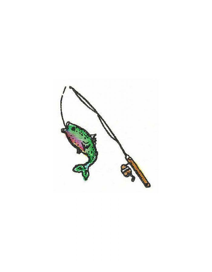 Fish On Pole - A9037