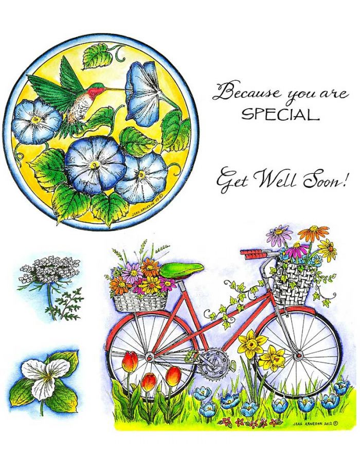Hummingbird Circle and Bike with Flower Baskets - NO-135
