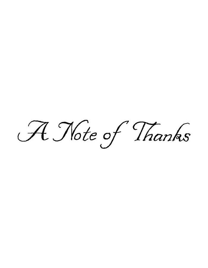 A Note of Thanks - DD8989