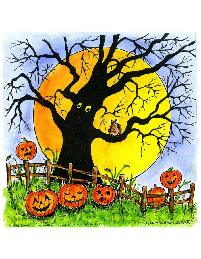 Isaac's Spooky Tree and Fence - PP10284