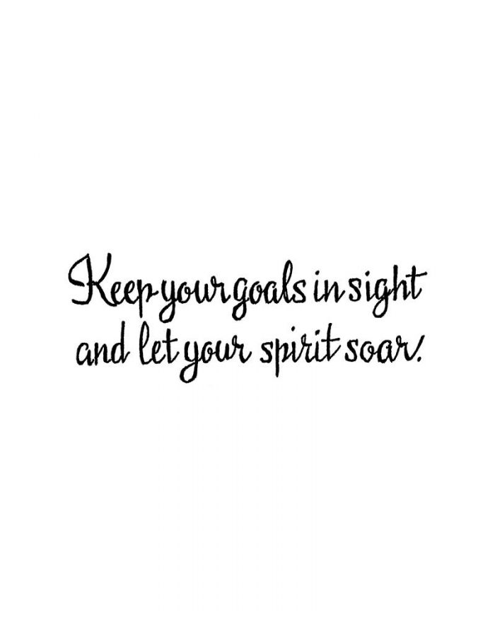 Keep Your Goals In Sight - D10631