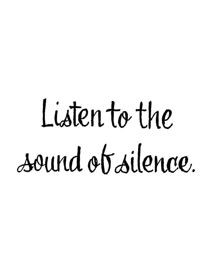 Listen To The Sound of Silence - D10786