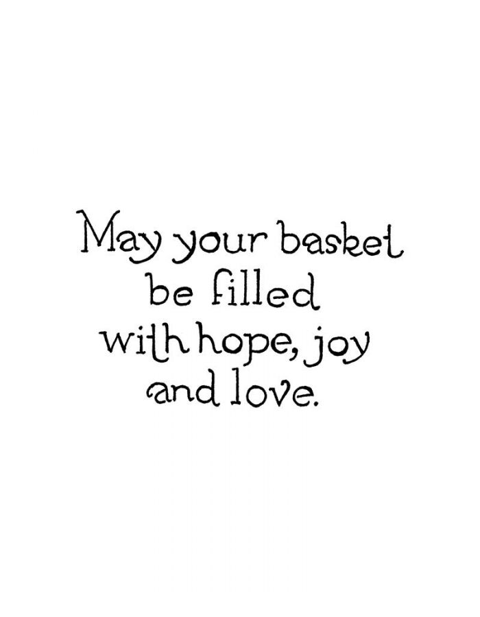 May Your Basket Be Filled - CC10749