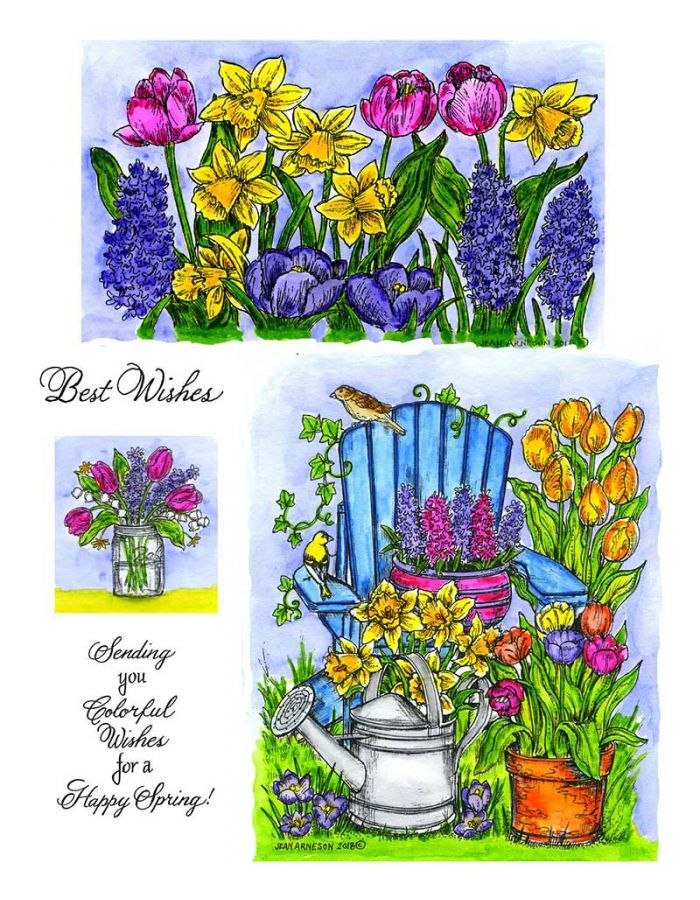 Adirondack Chair & Floral Border - NO-004