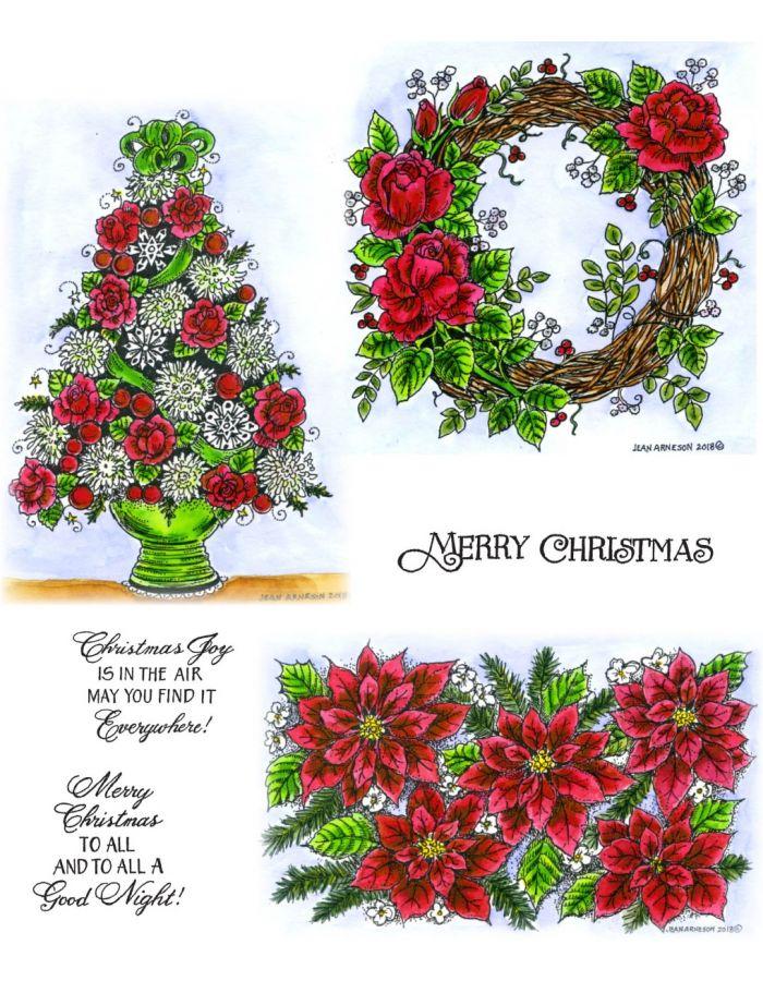 Rose Wreath, Rose and Mum - NO-026