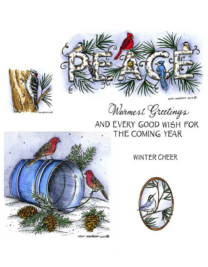 Peace and Birds on Water Pail - NO-037