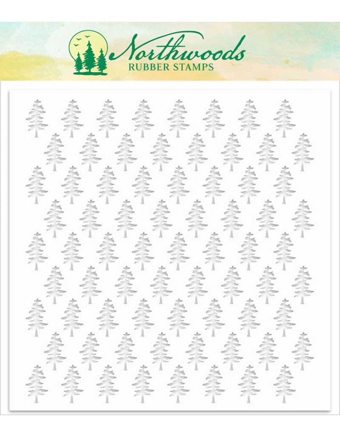 Pine Background Stencil - NORST-05