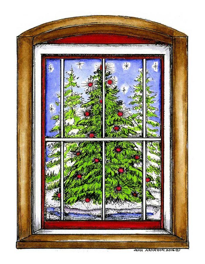 Outdoor Tree Window Scene - P10115