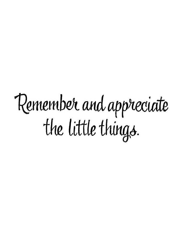 Remember and Appreciate The Little Things - D10773