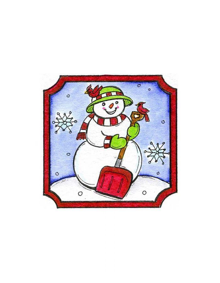 Shovel Snowman - C10119