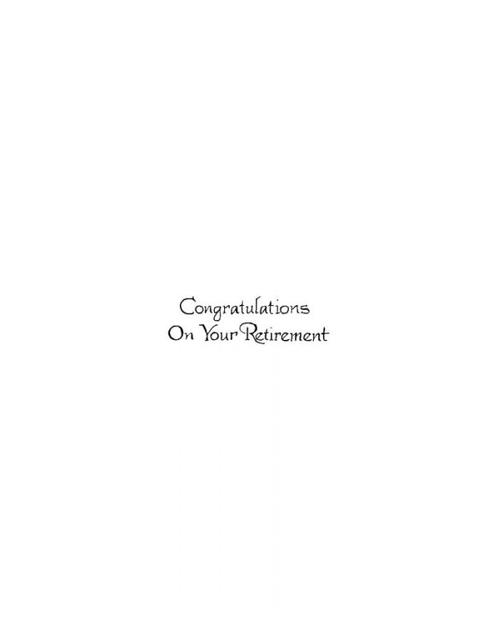 Congratulations On Your Retirement - BB10229