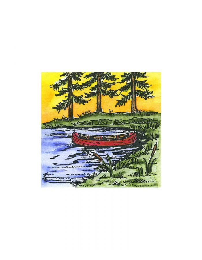 Small Canoe and Pines - C10616