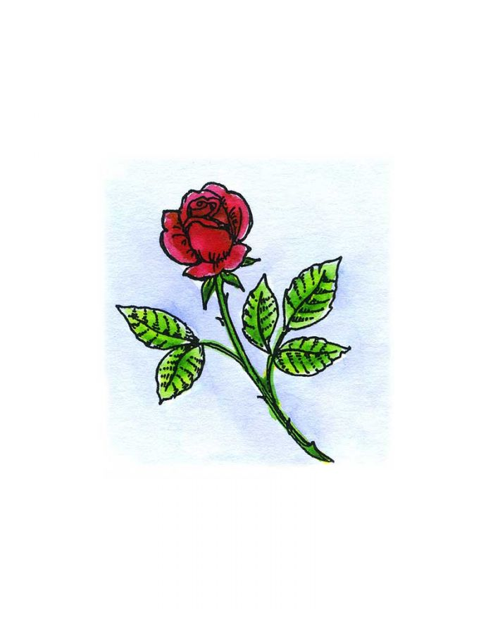 Small Rose Stem - B10420