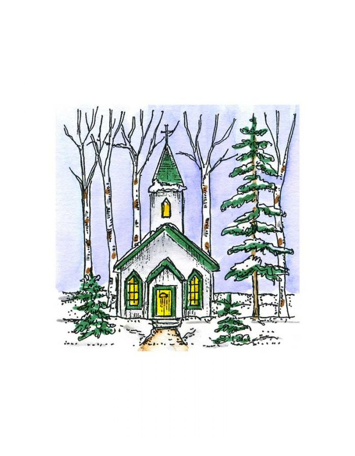 Small Snowy Church - CC10870