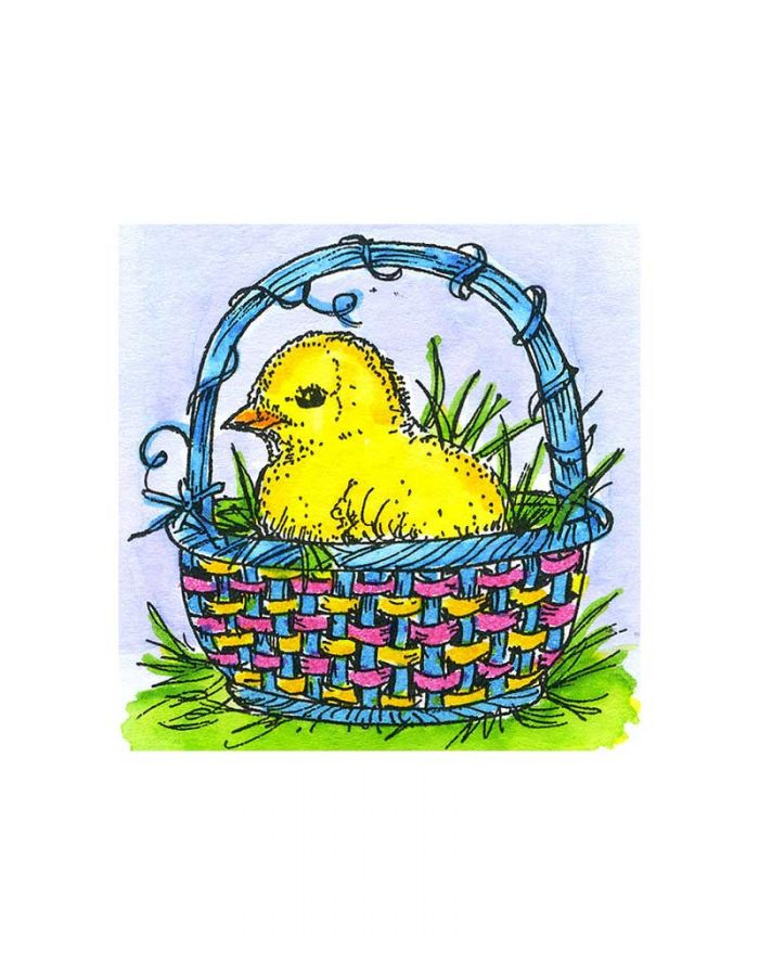 Small Spring Chick Basket - C10746