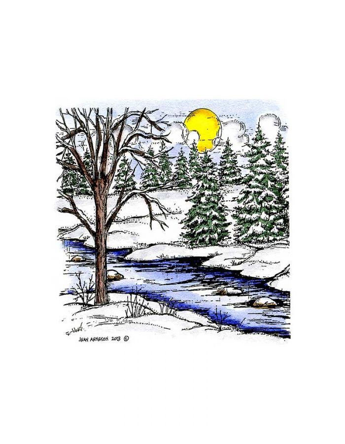 Small Tree, Stream and Spruce - CC9354