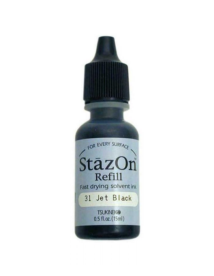 StazOn Ink Refill, Jet Black