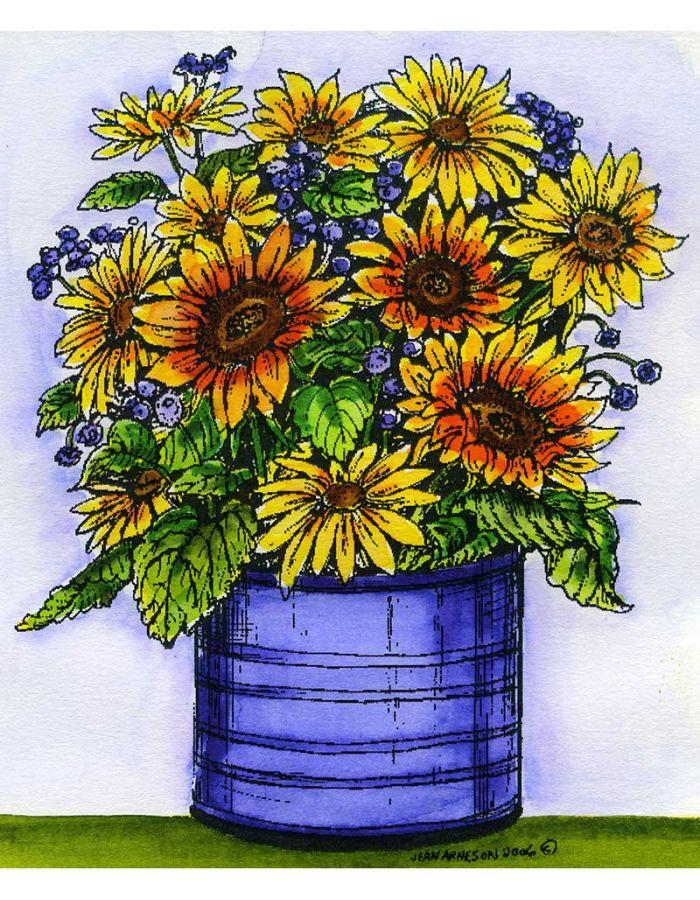 Sunflower Planter - R4742