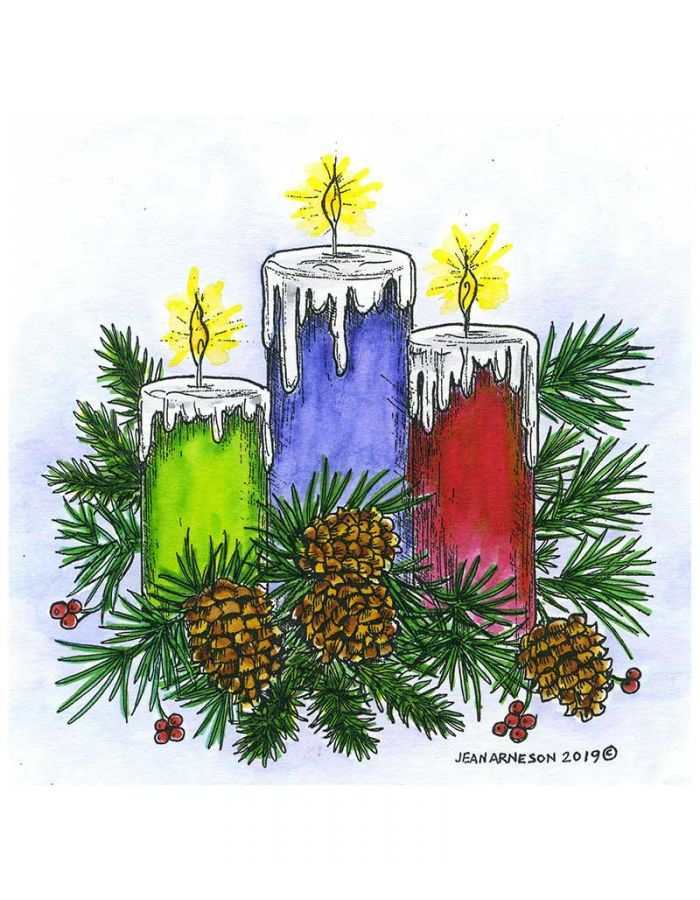 Three Candles and Pines - PP10682