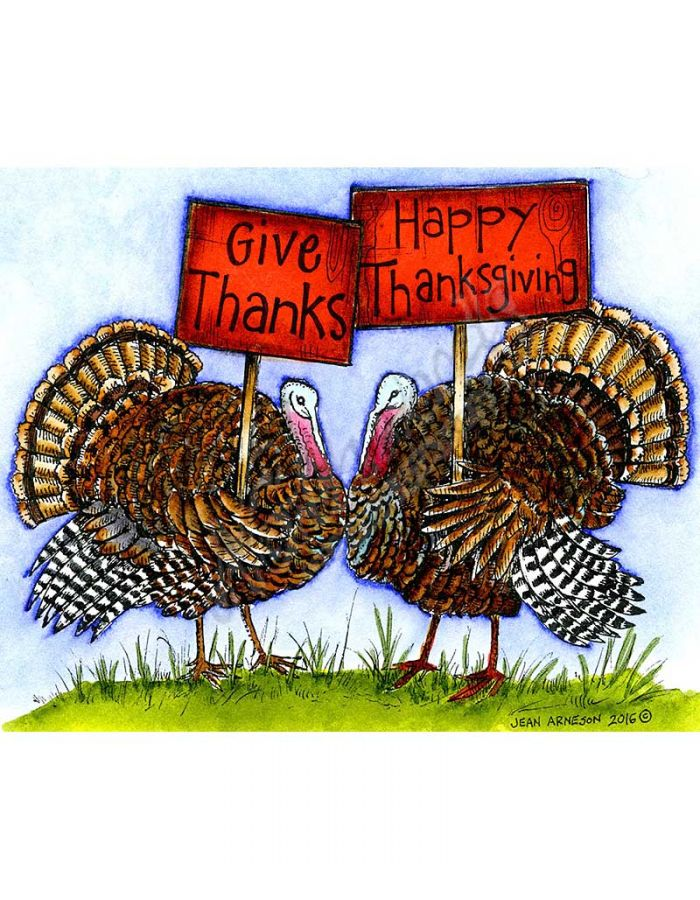 Turkey Pair Give Thanks - P10094