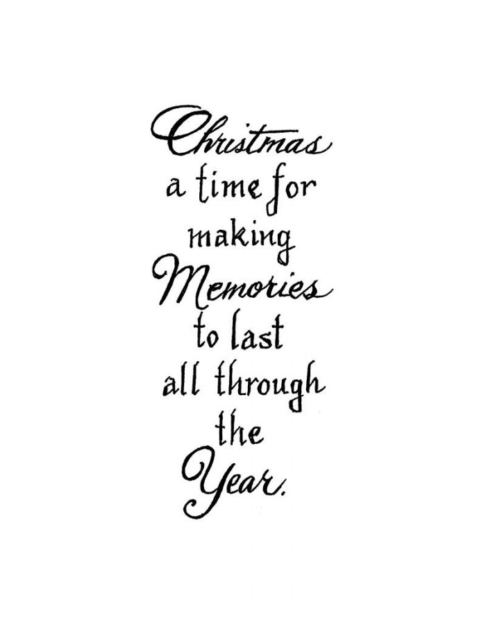 Christmas A Time For Making Memories - D10851