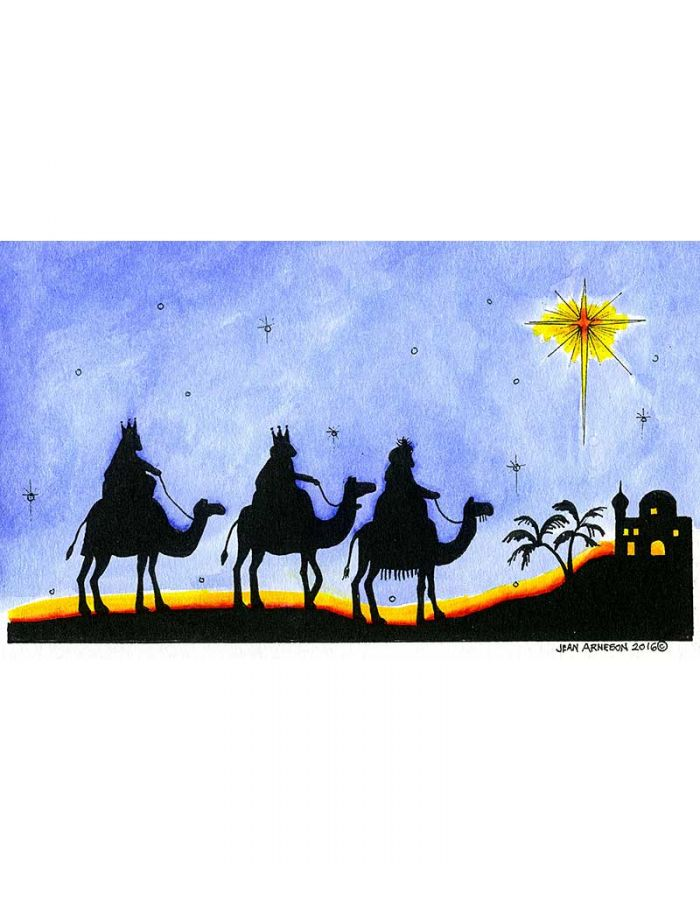 We Three Kings and Star Silhouette - O10122