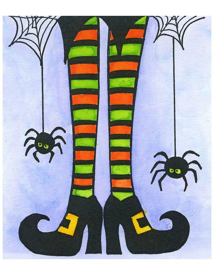 Witch Legs and Spiders - M10640