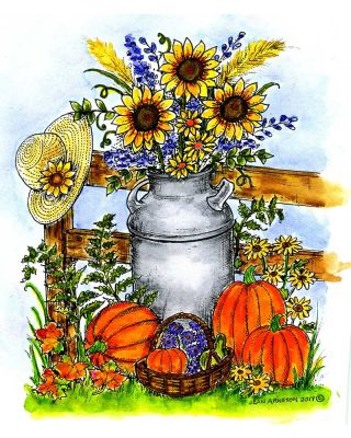 Autumn Milk Can - P10311