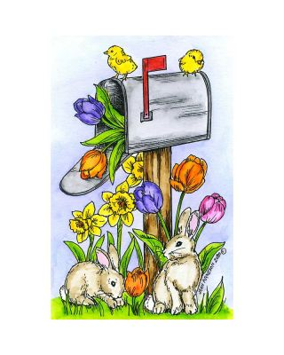 Bunny And Chick Mailbox - NN10748