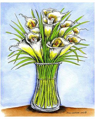 Calla Lily Vase - P10006