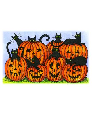 Cats and Jack O' Lanterns - NN10471