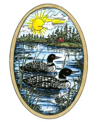 Eva's Loon Pair - P10213