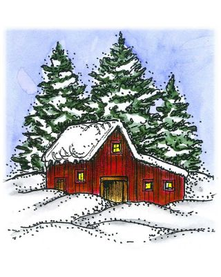 Farm Shed and Pines - MM10537