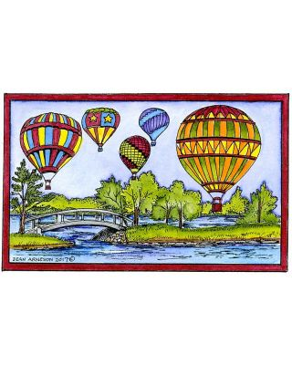 Hot Air Balloons and Stream - NN10259