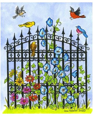 Iron Gate and Morning Glories - P10003
