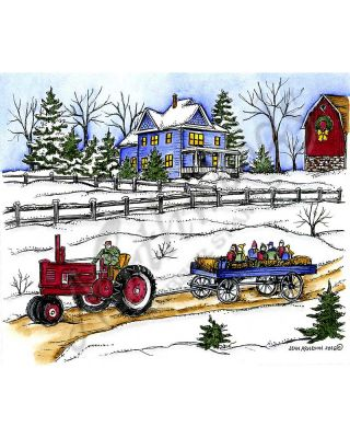 Jean's Winter House and Hayride - P10146