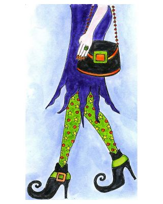 Lania's Witch Legs and Purse - NN10278