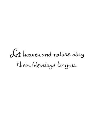 Let Heaven and Nature Sing - D10177