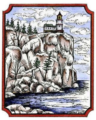 Lighthouse On Cliff - M9363