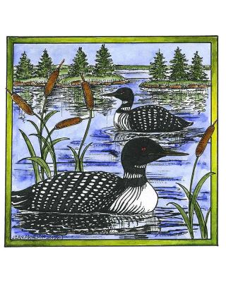 Loon Pair on Lake - PP10604