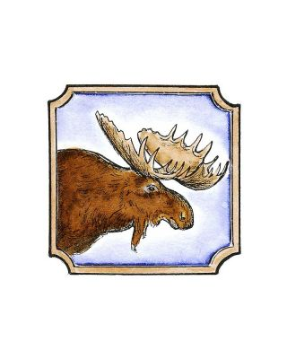 Moose in Notched Frame - CC8535