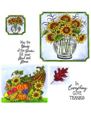 Sunflower Vase and Cornucopia: NO-022