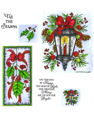 Holiday Lamp Light and Holly Swag - NO-024