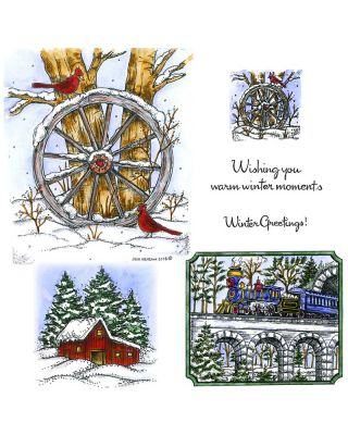 Wagon Wheel and Winter Train - NO-031