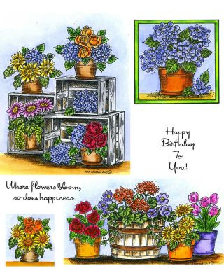 Spring Floral Crate - NO-038