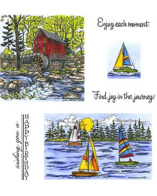 Mill & Sailboat - NO-055
